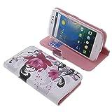 Tasche für Acer Liquid Z530 Book Style Lotus Blüte Schutz
