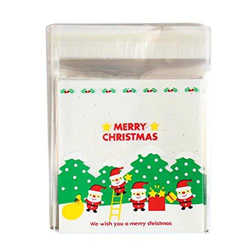hten behandeln Taschen selbstklebend Cookie Staubbeutel Bakery Candy behandeln DIY Geschenktüten XMas Candy Staubbeutel Aufbewahrungstasche Party Geschenk ()