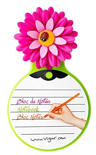Vigar Flower Power - Blocco Note con aspirazione, Multicolore