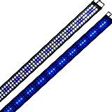 Aquarien Eco LED Aquarium Fische Tank Beleuchtung Aufsetzleuchte Blau Weiß 5730 LED Aquairum Abdeckung 150-180CM A116