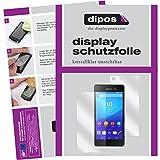 dipos I 6X Schutzfolie klar passend für Sony Xperia M5 Folie Bildschirmschutzfolie (3X Vorder- und 3X Rückseite)