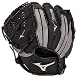 Mizuno Prospect powerclose Jugend Baseball Handschuh Serie, 312724.F993.09.1100, Black/Grey Tartan Shock Web, 28 cm