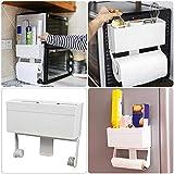Dough.Q-Estante flotante estante de pared estante Combi de estanterías Cocina dispositivos magnética adsorción estante de almacenamiento para conservación protectores tissues Plastic Wrap