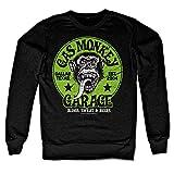 Officially Licensed Merchandise Gas Monkey Garage - Green Logo Sweatshirt (Black), Large