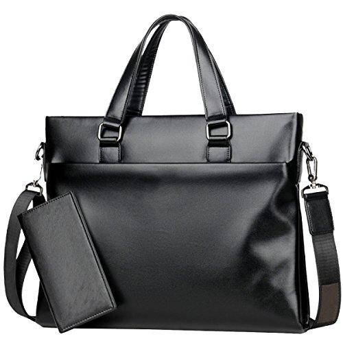 Borsa Da Uomo Yy.f Borsa In Pelle Da Uomo Borsa Sottile Classica E Pratica. Sezione Trasversale. 3 Colori Black+Handbag