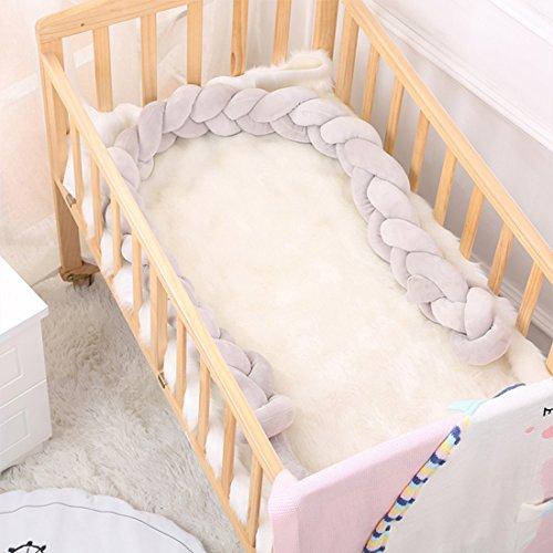 Baby Weben Bettumrandung Nestchen Stoßstang Kantenschutz Kopfschutz für Babybett Bettausstattung Set