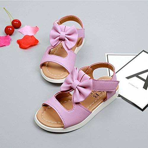Shoes Kids Shoes Baby Boys knot Purple Summer Sandals Bow Toddler Zhhlaixing tie vX4qww