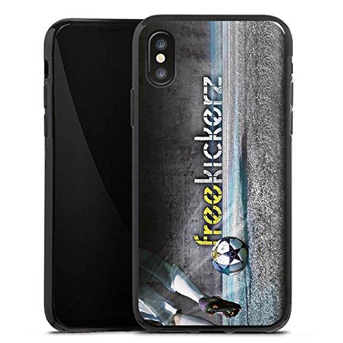 Apple iPhone X Silikon Hülle Case Schutzhülle Freekickerz Fanartikel Merchandise Fußball Silikon Case schwarz