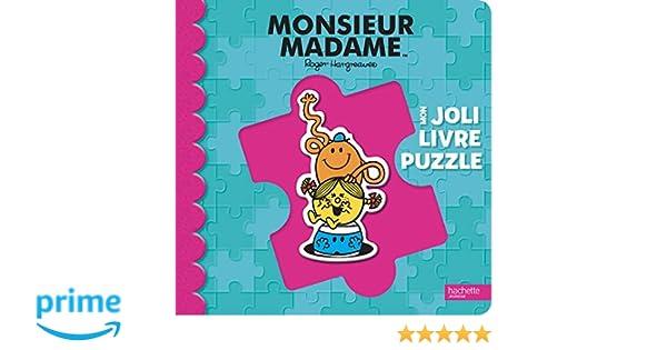 Amazon Fr Monsieur Madame Mon Joli Livre Puzzle Roger