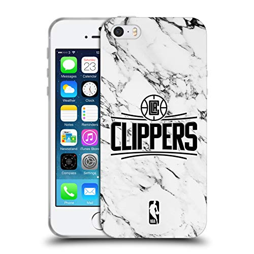 Head Case Designs Offizielle NBA Marmor Weiss 2018/19 Los Angeles Clippers Soft Gel Huelle kompatibel mit iPhone 5 iPhone 5s iPhone SE (Los 5s Clippers Iphone Angeles)