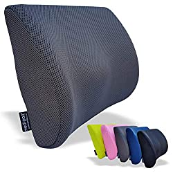 Medipaq - '3D' Mesh orthopädisches Memory Schaum Lenden Stütz Kissen - mit Luftzirkulation - Reduzieren sie Rückenschmerzen und verbesseren sie ihre Haltung [Verbesserte 2018 Version - Jetzt mit elastischem Verstellgurt]