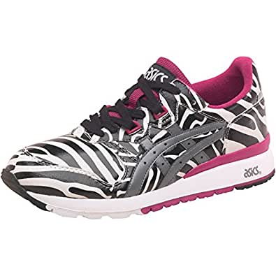 Womens Asics Tiger Gel Epirus Zebra Trainers White/Grey Girls Ladies (8 UK 8 EUR 42)