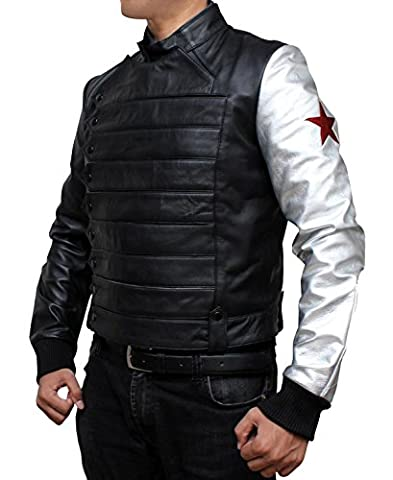 Bucky Barnes Winter Soldier Jacket Costume (XL,