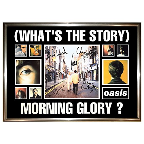 Oasis What's The Story Morning Glory A4 Framed, Signed Poster Display