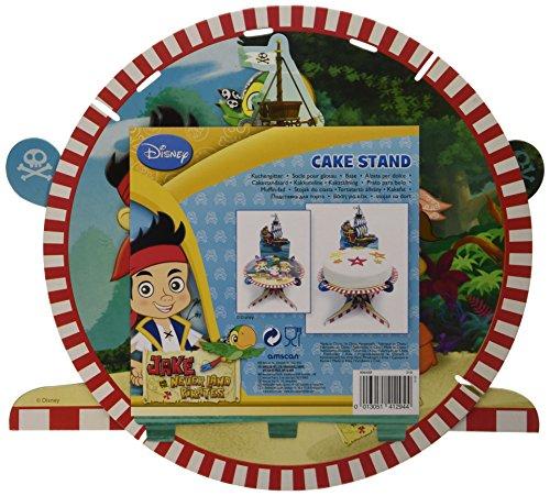 amscan Jake und die Nimmerland Piraten Tortenplatte (Piraten Die Jake Nimmerland Kuchen Und)