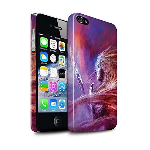 Offiziell Chris Cold Hülle / Glanz Snap-On Case für Apple iPhone 4/4S / Einfrieren Muster / Fremden Welt Kosmos Kollektion Raum Mädchen