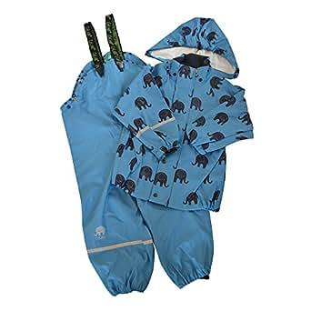 CELAVI Kinder Jungen Regen Anzug mit Elefanten Aufdruck