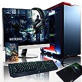 VIBOX Titan 12 PC Gamer Ordinateur avec Jeu Bundle, Windows 10 OS, 27' HD Écran (4,0GHz Intel i7 Extreme 6-Core Processeur, Nvidia GeForce GTX 1070 Carte Graphique, 32GB DDR4 RAM, 500GB SSD, 3TB HDD)