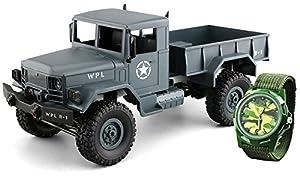 Amewi 22327U.S. Truck Militar 4WD 1: 16RTR con niños Reloj Vehículo, Gris