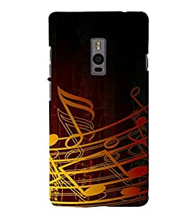 HiFi Designer Phone Back Case Cover OnePlus 2 :: OnePlus Two :: One Plus 2 ( Music Design Symbol Music is My Life Pattern Design )