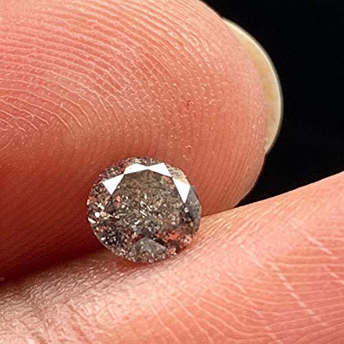 DDS585/6 Salz- und Pfefferstreuer, 4,6 mm / 0,40 kt, natürlich, klar, weiß, schwarz, rund, Brillantschliff, facettiert, Solitär-Diamant (Klar, Salz-und Pfefferstreuer)