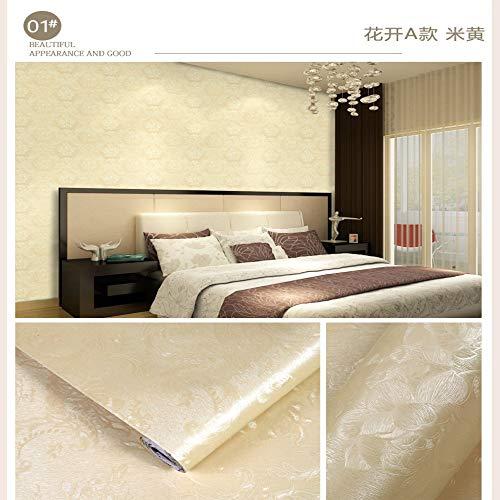 lsaiyy Tapete Selbstklebende tapete schlafsaal Schlafzimmer mädchen 3D Stereo wasserdicht Schlafzimmer warm Wohnzimmer Hintergrund wandaufkleber 10 mt tapete-45 cm X 10 M -