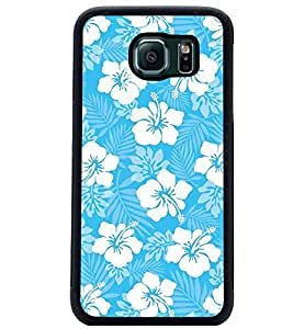 PrintDhaba Floral Design D-2068 Back Case Cover for SAMSUNG GALAXY S6 (Multi-Coloured)
