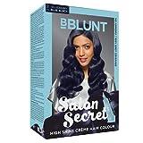 bblunt Salon Secret Hohe Glanz Creme Haar Farbe, Blau Schwarz