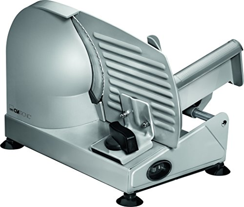 Clatronic MA 3585 - acero inoxidable, corte ajustable, disco corte 19 cm, 150 W, color plateado