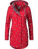 Peak Time Damen Übergangs-Mantel Softshell L60013 Rot/Weiß gepunktet Gr. L