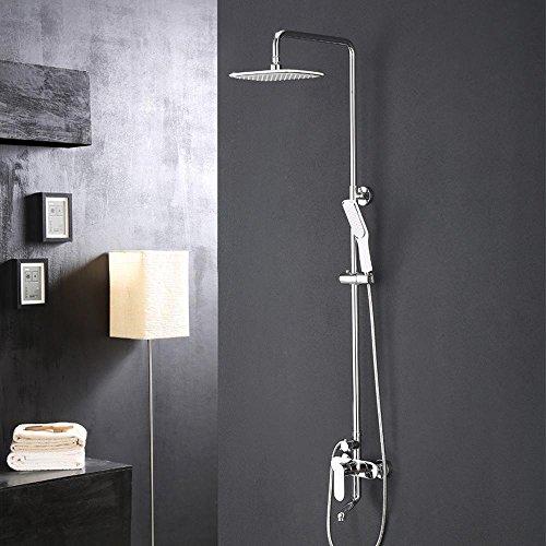 BY-La nuova doccia cromo multistrato, ovale in ottone massiccio, set doccia, Rubinetti da bagno semplice, gruppo vasca, terza marcia dal controllo di un unico pulsante acqua di sollevamento