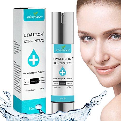 Hyaluronsäure Serum - Hyaluronsäure Anti-Aging Serum Gesichtsserum mit organischen Inhaltsstoffen - Feuchtigkeitsspendende Gesichtspflege für Falten und Altersflecken - Für Gesicht, Hals und Dekolleté - Geeignet für jeden Hauttyp besonders für reifere Haut