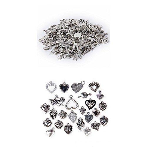100 Unidades Paquete Colgante Amuleto Dije Talismán de Aleación Surt