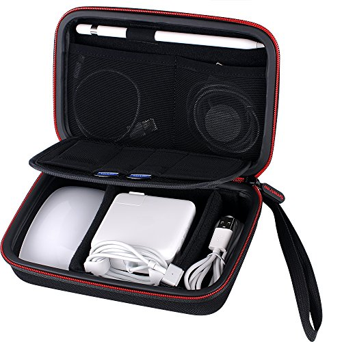 Smatree Harte Tasche A90 für Apple Pencil, Magic Mouse,Magsafe Power Adapter, Magnetic Charging Kable,Lightning auf USB Kamera-Adapter und andere kleine Zubehör