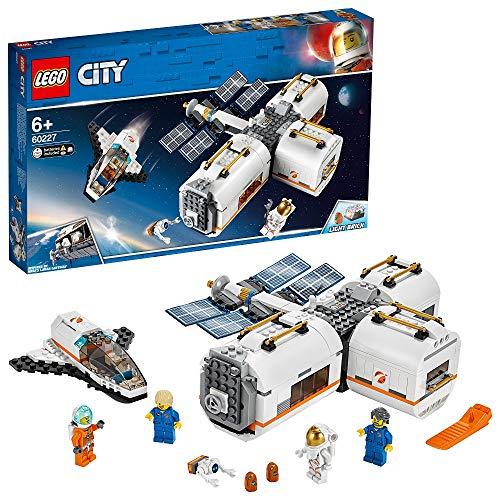 LEGO-City La station spatiale lunaire Enfant de 6 Ans et Plus, Jouet de Construction, 412 Pièces 60227
