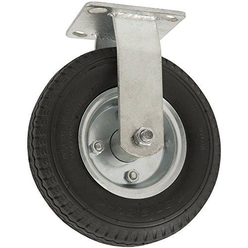Pneumatische Rad (Pneumatische Lenkrad mit drehbaren Top Teller–8Zoll–310LB. Tragkraft–Luftgefüllte Rad bietet eine gepolsterte Ride & Stoßdämpfung Best geeignet für den Outdoor Einsatz, schwarz, 4130755)
