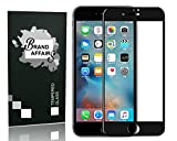 Brand Affairs Premium Quality [9h Hardness][HD Clear] 5D Tempered Glass Screen Protector for Apple I Phone 6/6S (Black)