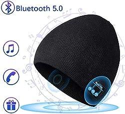 COTOP Bluetooth 5.0 Kopfhörer Mütze Mütze Herren Wintermütze Strickmütze Warme Beanie Winter Mütze Running-Mützen für Damen und Herren