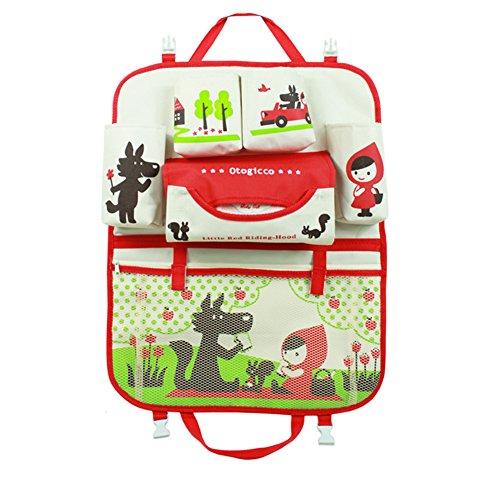 HomDsim Cartoon Autositz Zurück Organizer Aufbewahrungsbeutel Hängen Auto Organizer Taschen Tasche für Kinder Kinder - Autositz Spielzeug Mädchen