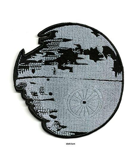 Star Wars Death Star EMPIRE 's Ultimate Waffe moon-sized Space Station | Stickerei Hohe Qualität Eisen auf Sew auf Patch Abzeichen für Kleidung Jacken T-Shirts Mäntel Taschen Hüte Geldbeutel (Braun Shirt Empire)