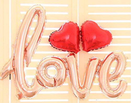 efe Folie Ballon Geburtstag Hochzeitsfest Jahrestag Dekor (Gold) (Alphabet Geformte Ballone)