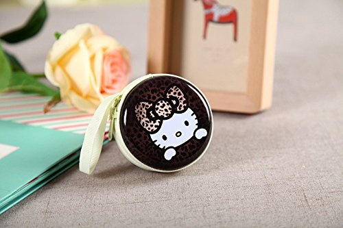 Kitty Coffee Zipper Round Headphones / Coin Purse Wallet Pouch Bag Key Holder For Birthday Gifts   Return Gifts   Utillity  available at amazon for Rs.149