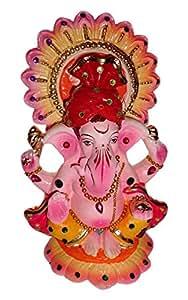 Shefit Products Clay Eco-Friendly Ganesha Idol (11 cm x 7.3 cm x 18.cm)