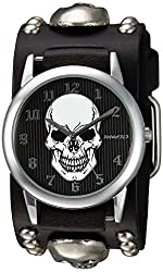 Nemesis Men's 921MSKK Mystery Skull Series Analog Display Japanese Quartz Black Watch