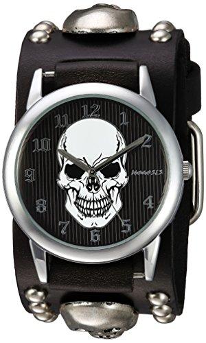 Nemesis 921MSKK - Reloj de pulsera hombre, piel, color Negro