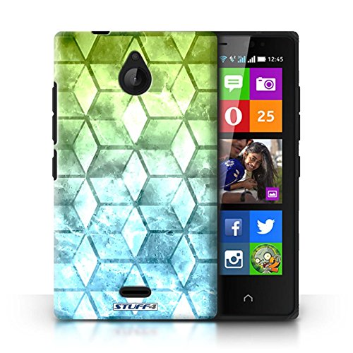 Kobalt® Imprimé Etui / Coque pour Nokia X2 Dual Sim / Rouge / Vert conception / Série Cubes colorés Vert/Bleu
