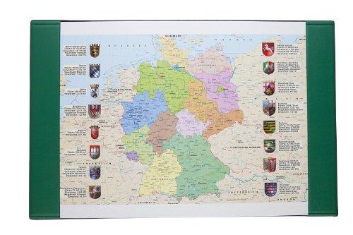 Idena 350024 - Schreibtischunterlage 68 x 45 cm, Motiv: Deutschlandkarte