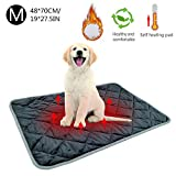 evergreemi Pets Self Heating Pads,Warm Pet Blanket,Comfortable Cat Dog Bed Washable Self Heated Pet Thermal Mat for Sofas Floors Pet Beds,Size S-XL