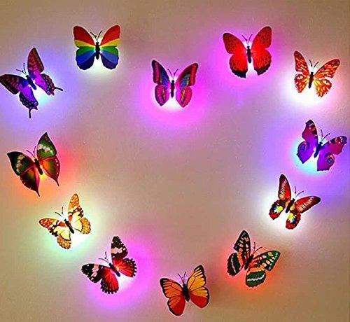 Mariposas luces intermitentes 3d
