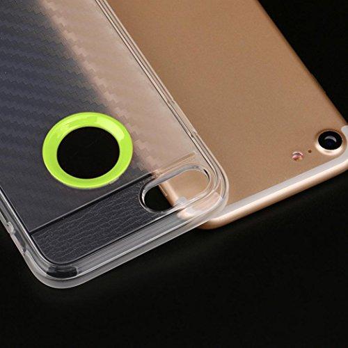 Cover per iPhone 7, Tpulling Custodia per iPhone 7 Case Cover Nuova copertura molle sottile della cassa del gel del silicone di protezione per IPhone 7 4.7 pollici (Navy) Green